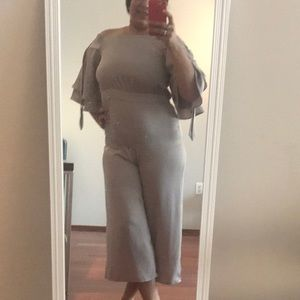 Silver grey jumpsuit like new
